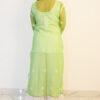 Parrot Green Georgette Kurti