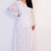 White Aari Design Kurti